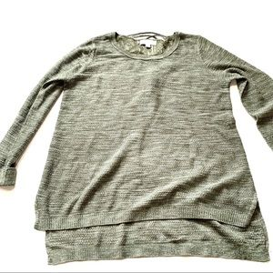 Knox rose olive green knit sweater XL